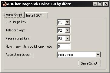 AHK Bot (Visual Bot) для Ragnarok Online