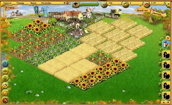 Скриншоты Farmerama